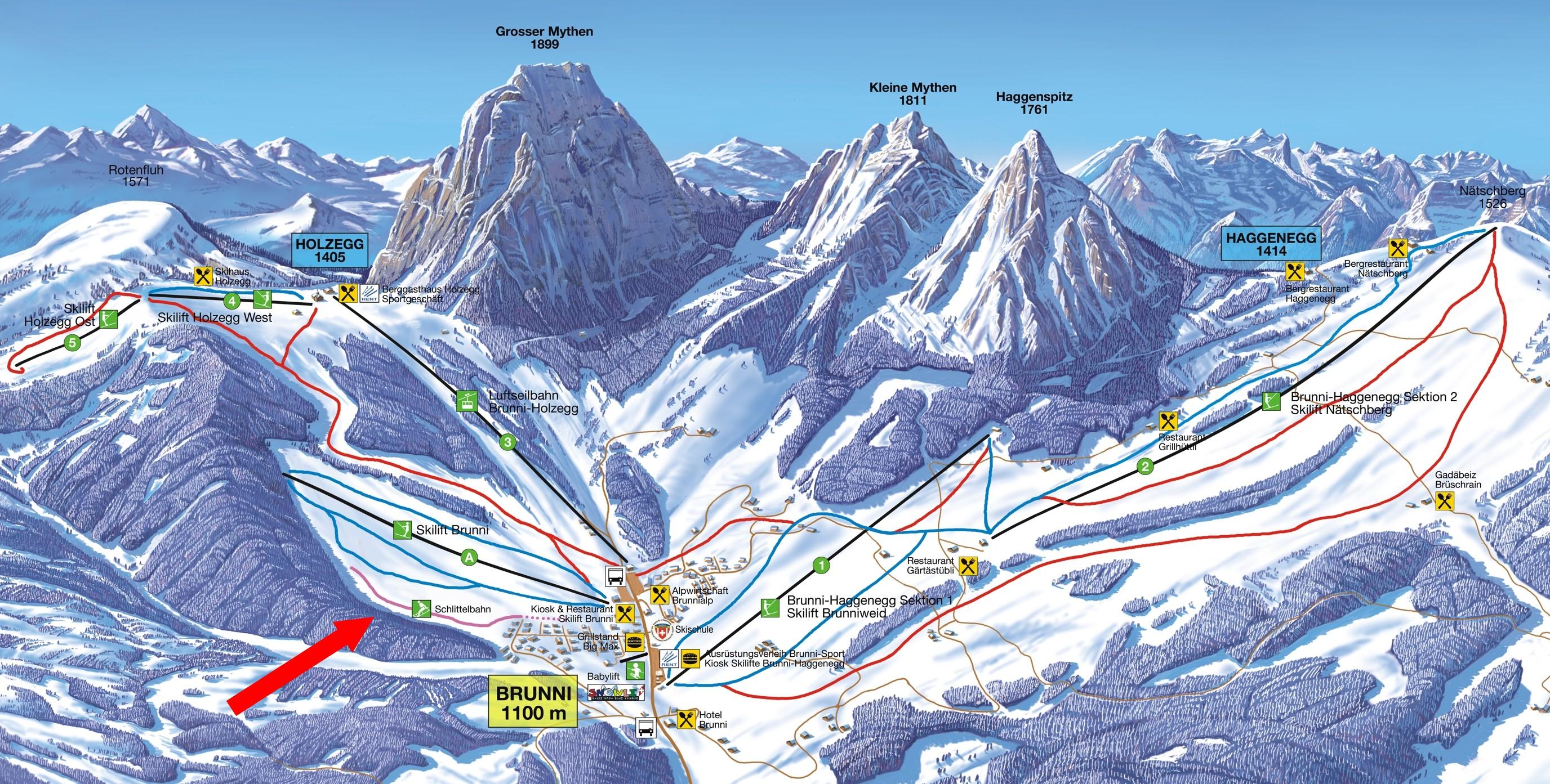 Schlittelbahn Skilift Brunni